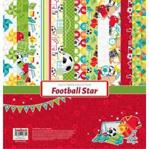 ScrapBerry's ポーランド 作品販売可能 片面 スクラップブッキングペーパー 12インチ 1枚 フットボールスター Football Star|ccpopo