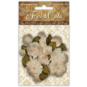 スタンペリア Stamperia イタリア さまざまなサイズのアイボリーの花 ivory flowers in various sizes SF145 スクラップブッキング ミックスメディア 2020春 ccpopo