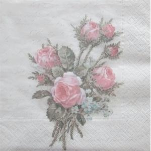 1枚バラ売りペーパーナプキン Sagen Vintage Design ノルウェー フラワーブーケット Flower Bouquet 80071 デコパージュ ドリパージュ|ccpopo