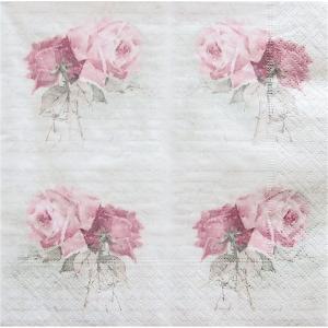 1枚バラ売りペーパーナプキン Sagen Vintage Design ノルウェー 小さな薔薇の花束 Small Vintage Roses 80073 デコパージュ ドリパージュ|ccpopo