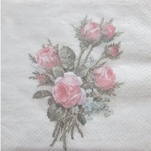 Sagen Vintage Design ノルウェー ペーパーナプキン フラワーブーケット Flower Bouquet 80071 バラ売り2枚1セット デコパージュ ドリパージュ|ccpopo