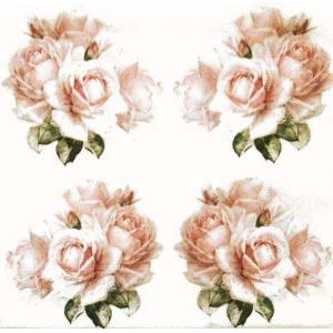 Sagen Vintage Design ノルウェー ペーパーナプキン アンティークローズ 80096 バラ売り2枚1セット デコパージュ ドリパージュ|ccpopo