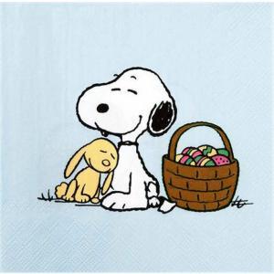 入手困難レア品ドイツ製1枚バラ売りペーパーナプキン スヌーピー SNOOPY PEANUTS Snoopy und Hase 紙ナフキン 33x33cm ドリパージュ デコパージュ|ccpopo