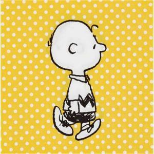 スヌーピー SNOOPY PEANUTS チャーリーブラウン 黄色のドット柄 2枚1セット ペーパーナプキン 33x33cm デコパージュ ドリパージュ|ccpopo
