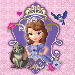 1枚バラ売り25cmペーパーナプキン ちいさなプリンセス ソフィア SOFIA THE FIRST ディズニー Disney MADE IN USA デコパージュ ドリパージュ 501351|ccpopo