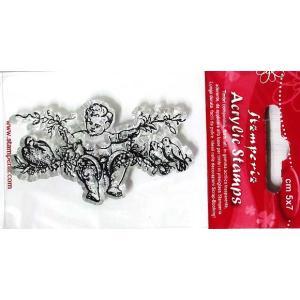 スタンペリア Stamperia イタリア アクリル製クリアスタンプ 7.0x11.0cm WTK054 天使 Angel on branch|ccpopo