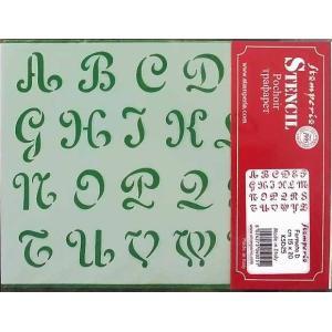 スタンペリア Stamperia イタリア製ステンシルプレート デザインプレート モチーフ MADE IN ITALY 20x15cm KSD25 アルファベット Block letters Alphabet|ccpopo