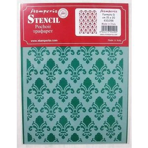 スタンペリア Stamperia ステンシルプレート デザインプレート モチーフ 20x15cm KSD288 テクスチャー Texture|ccpopo