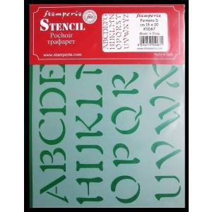 スタンペリア Stamperia イタリア製ステンシルプレート デザインプレート モチーフ MADE IN ITALY 20x15cm KSD67 アルファベット Alphabet Capital letters|ccpopo