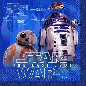 1枚バラ売り25cmペーパーナプキン スターウォーズ Star Wars Star Wars Episode VIII アメリカ製 2枚重ね 紙コースター デコパージュ ドリパージュ 500038|ccpopo