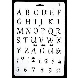 ステンシル プレート デザインプレート モチーフ STENCIL PATTERN クラフト ペイント デコパージュ アルファベット ウムラウト記号 alphabet A003-2|ccpopo