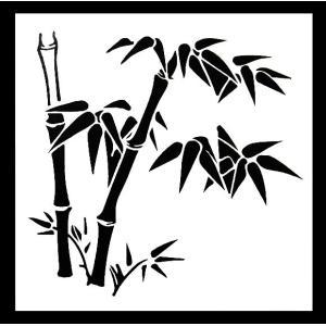 ステンシル ミニプレート デザインプレート モチーフ STENCIL PATTERN クラフト ペイント デコパージュ 竹 和風|ccpopo
