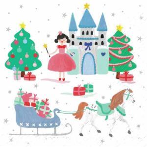 Stewo スティーボ社 スイス ペーパーナプキン クリスマス Neea weiss バラ売り2枚1セット L-72-6132-60 デコパージュ ccpopo