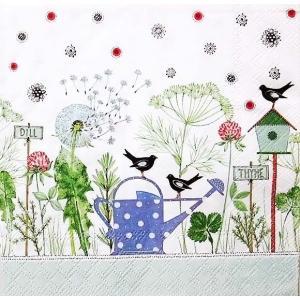 Stewo スティーボ社 スイス ペーパーナプキン 花 春 タンポポ 小鳥 Silvana バラ売り2枚1セット L-72-6567-45 デコパージュ ドリパージュ|ccpopo