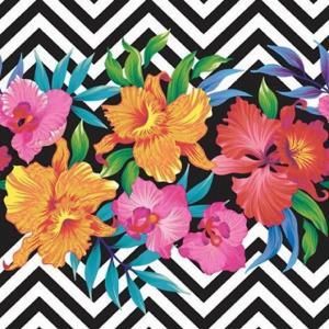 1枚バラ売りペーパーナプキン ti-flair ドイツ トロピカルフラワー Tropical Flowers 340121 デコパージュ ドリパージュ|ccpopo