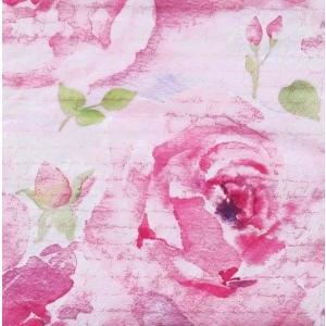 ti-flair ドイツ製ペーパーナプキン ピンクの薔薇 花 フラワー Rosa Delicada rosa 340220 バラ売り2枚1セット デコパージュ ccpopo