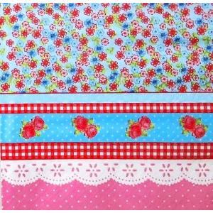在庫限りセール ti-flair ドイツ製ペーパーナプキン Petit Fleurs avec Dentelle pink 340536 バラ売り2枚1セット デコパージュ ドリパージュ|ccpopo