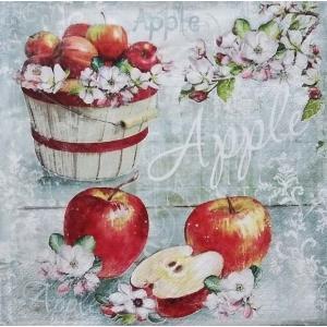 ti-flair ドイツ製ペーパーナプキン アップル 林檎 リンゴのバスケット 花 Cesta de la Manzana 341935 バラ売り2枚1セット デコパージュ ドリパージュ|ccpopo