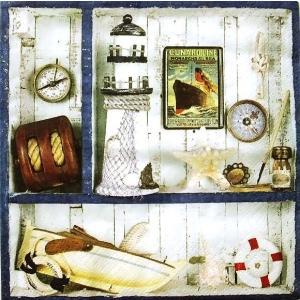 ti-flair ドイツ製ペーパーナプキン 海の旅 Voyage de Mer 370534 バラ売り2枚1セット デコパージュ ccpopo