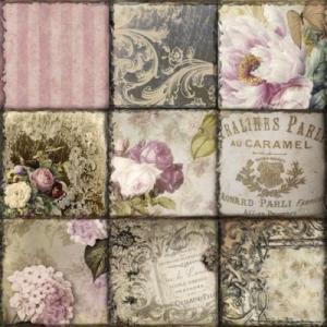 ti-flair ドイツ製ペーパーナプキン Vintage Collage Paris 373432 バラ売り2枚1セット デコパージュ ドリパージュ|ccpopo