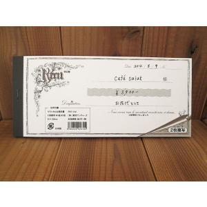 東京アンティーク クラシカルな領収書 Crassical receipt 2枚複写 日本製 40組80枚 ccpopo