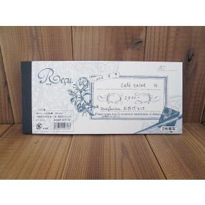 東京アンティーク お花とレースの領収書 Flower & lace receipt 2枚複写 日本製 40組80枚 ccpopo