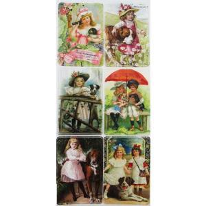 バイオレットステッカー シール 女の子と犬 1シート Violette Stickers|ccpopo