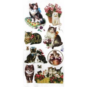 バイオレットステッカー シール 猫 キャット 1シート Violette Stickers|ccpopo