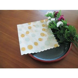 和柄 日本製 ペーパーナプキン みずたま バラ売り2枚1セット デコパージュ ドリパージュ|ccpopo