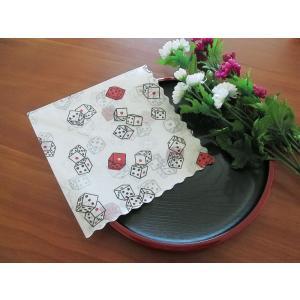 和柄 日本製 ペーパーナプキン サイコロ バラ売り2枚1セット デコパージュ ドリパージュ|ccpopo
