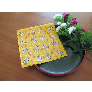 和柄 日本製 ペーパーナプキン まねきねこ 招き猫 バラ売り2枚1セット デコパージュ ドリパージュ|ccpopo