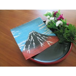 和柄 日本製 ペーパーナプキン 北斎 赤富士 バラ売り2枚1セット デコパージュ ドリパージュ|ccpopo