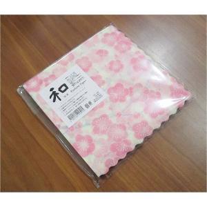 新品未開封1パック20枚 和柄 日本製 ペーパーナプキン 祝い梅 食品包装可|ccpopo