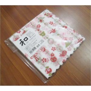 新品未開封1パック20枚 和柄 日本製 ペーパーナプキン めでた飾り 食品包装可|ccpopo