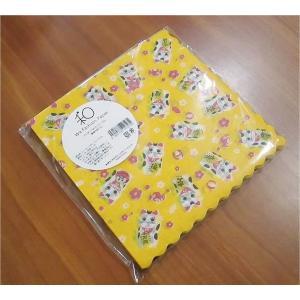 新品未開封1パック20枚 和柄 日本製 ペーパーナプキン まねきねこ 招き猫 食品包装可|ccpopo