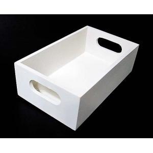 白塗りされた、シンプルでかわいらしい 木製ボックスです。  好きなペーパーをデコパージュして 楽しみ...