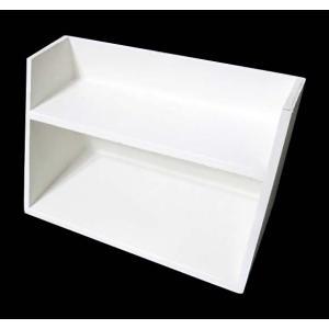 白塗りされた、シンプルでかわいらしい 飾り棚です。  好きなペーパーをデコパージュして 楽しみながら...