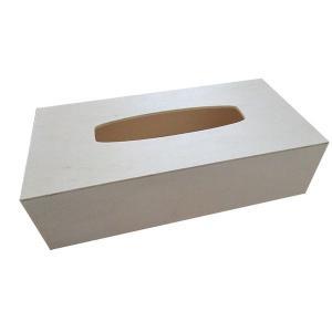 デコパージュやドリパージュなど、 作品創りで使いやすい シンプルな木製ティッシュボックス。  インテ...