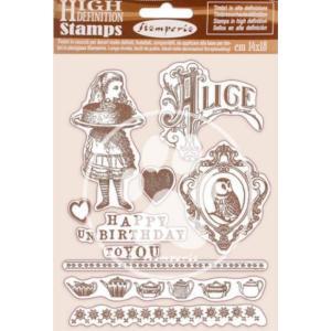 スタンペリア Stamperia HD Natural Rubber Stamp 14x18cm 不思議の国のアリス Happy Birthday Alice ccpopo
