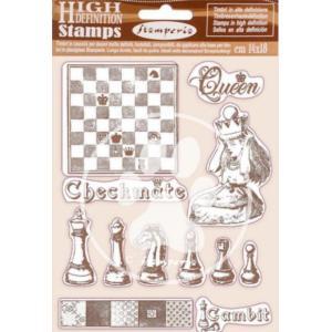 スタンペリア Stamperia HD Natural Rubber Stamp 14x18cm 不思議の国のアリス アリスチェックメイト Alice checkmate ccpopo
