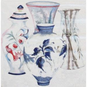 ZARA HOME ザラホーム スペイン ペーパーナプキン 花瓶 バラ売り2枚1セット zara48148022999992 デコパージュ ドリパージュ|ccpopo