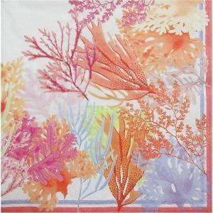 ZARA HOME ザラホーム スペイン ペーパーナプキン サンゴ柄 バラ売り2枚1セット 48953022999992 デコパージュ ドリパージュ|ccpopo