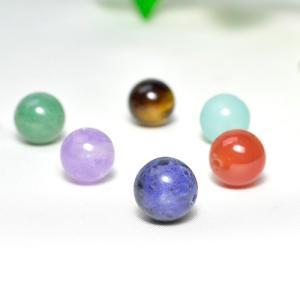 パワーストーン 7色の玉 10mm玉 六芒星ポーチ付 天然石 ゆうパケット送料無料|ccr