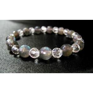 パワーストーン ブレスレット ラブラドライト 水晶 天然石|ccr