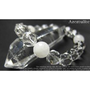 パワーストーン ブレスレット アゼツライト 水晶 天然石|ccr