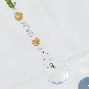 パワーストーン サンキャッチャー レインボー クリスタルガラス Hau'oli -ハウオリ- 水晶 シトリン ペリドット 天然石|ccr