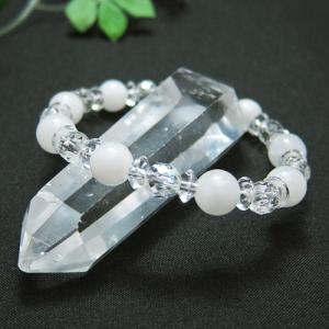 パワーストーン ブレスレット アゼツライト 水晶 天然石...