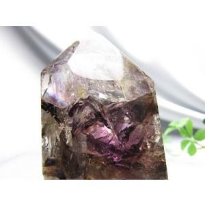 パワーストーン レア限定1点 マダガスカル産 水入り アメジストガーデン 共生鉱俗称:エレスチャル 天然石 置き物天然石 ゆうパケット不可|ccr