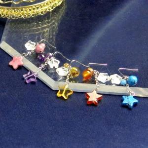 パワーストーン ピアス 星型 星に願いを 12星座 天然石|ccr