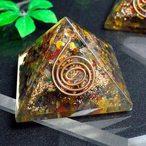 パワーストーン 置物 ピラミッド オルゴナイト 天然石 ccr